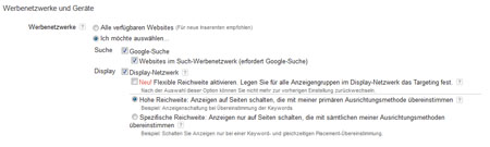 Flexible Reichweite Adwords